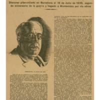 S.E. El Presidente de la República Española se dirige al País | Shelfnum : JMG-CA1-1938-07-18 | Page : 1 | Content : facsimile