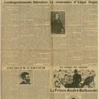 Les Nouvelles Littéraires | Shelfnum : JMG-CA2-1934-07-28 | Page : 1 | Content : facsimile