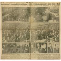 En sesión solemne, la Convención Batllista rindió a España en el segundo aniversario de la heroica defensa de Madrid | Shelfnum : JMG-CA1-1938-11-12 | Page : 1 | Content : facsimile