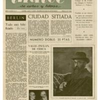 ÍNDICE de artes y letras | Shelfnum : JMG-CA2-1954-05-00 | Page : 1 | Content : facsimile