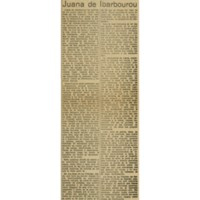 Un nuevo libro de Juana de Ibarbourou   Shelfnum : JMG-AA1-1930-12-18   Content : facsimile