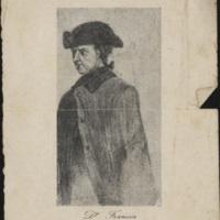 [Portrait du Dr. Francia (José Gaspar Rodriguez de Francia)] | Shelfnum : JMG-DC-342 | Content : facsimile