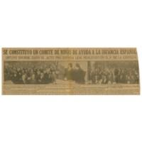 Se constituyo un comité de niños de ayuda a la infancia española | Shelfnum : JMG-CA1-1937-08-09