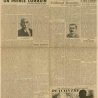 Les Nouvelles Littéraires | Shelfnum : JMG-CA2-1934-08-04 | Page : 1 | Content : facsimile