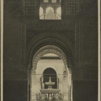 [Alhambra : Fontaine aux lions, vue de l'intérieur de la mosquée.] | Shelfnum : JMG-DC-334 | Content : facsimile