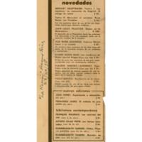Novedades. Editorial Losada S.A. | Shelfnum : JMG-CA1-1958-11-23 | Content : facsimile