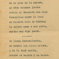 Romance del ametrallador leal | Shelfnum : JMG-AG-01-F3 | Page : 1 | Content : facsimile