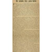 Un notable libro sobre Batlle | Shelfnum : JMG-CA1-1931-09-11