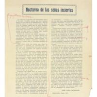 Nocturno de las señas inciertas | Shelfnum : JMG-AA1-1924-07-00 | Content : facsimile