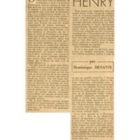 Un cartel français veut brûler Henri Miller | Shelfnum : JMG-CA1-1946-09-13 | Page : 1 | Content : facsimile